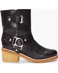 Belle By Sigerson Morrison Shearling Low Boots black - Lyst