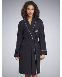 Lauren by Ralph Lauren - Lauren By Ralph Lauren Short Robe, Black - Lyst