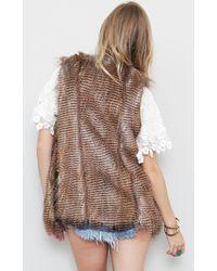 Twelfth Street Cynthia Vincent Arizona Faux Fur Vest - Lyst