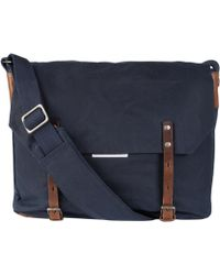 Ally Capellino - Navy Waxed Cotton Jeremy Messenger Bag - Lyst