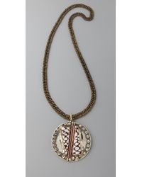 Anndra Neen - Large Circle Pendant Necklace with Marble Shells - Lyst