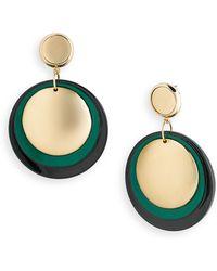 Belle Noel Resin Disc Coin Earrings - Lyst