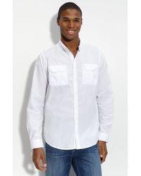 Ben Sherman Military Roll Sleeve Shirt - Lyst
