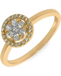 Bony Levy Flower Diamond Stackable Ring - Lyst