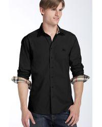 Burberry Brit | Trim Fit Poplin Sport Shirt | Lyst