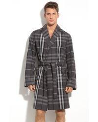 Burberry Beat Check Robe gray - Lyst
