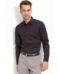 Calibrate Trim Fit Dobby Stripe Sport Shirt - Lyst