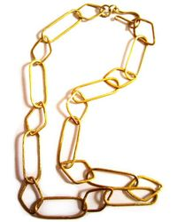 Chic Jewel Couture 24kt Gold Linked Forever Necklace - Lyst