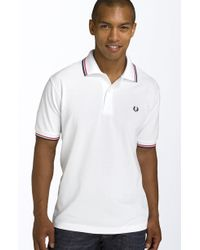 Fred Perry Short-Sleeved Twin Tipped Polo Shirt - Lyst