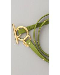 Gorjana - Graham Leather Studded Wrap Bracelet - Lyst
