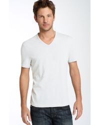 John Varvatos Trim Fit Slubbed V-neck T-shirt (men) - Lyst