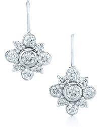 Kwiat 'Petal' Diamond & White Gold Drop Earrings white - Lyst
