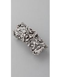 Low Luv by Erin Wasson - Bone Armour Ring - Lyst