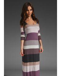 Splendid Multi Stripe Maxi Dress - Lyst