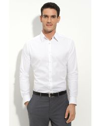 Theory Trim Fit Solid Sport Shirt - Lyst