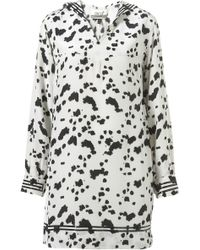 Topshop Dalmatian Print Sailor Tunic By Unique** - Lyst