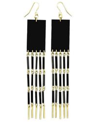 Zelia Horsley Jewellery Rectangle Row Earrings - Lyst