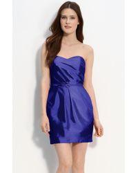 Alexia Admor Strapless Taffeta Dress - Lyst