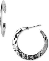 Argento Vivo Flat Hoop Earrings - Lyst