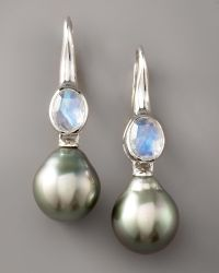 Assael - Moonstone & Pearl Earrings - Lyst