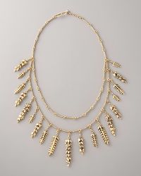 Aurelie Bidermann Double-strand Wheat Necklace - Lyst