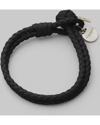 Bottega Veneta Intrecciato Leather Double-Row Wrap Bracelet - Lyst