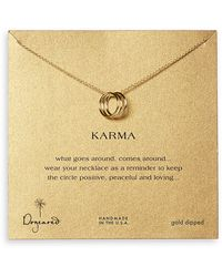 Dogeared 'Karma' Charm Necklace - Lyst