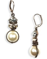 Givenchy Small Glass Pearl Earrings - Lyst