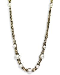 Givenchy Vanguard Faux Pearl & Chain Long Necklace - Lyst