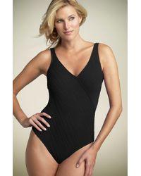 Gottex Mikado Surplice One-piece Swimsuit - Lyst
