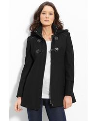 Guess Toggle Front Hooded Coat - Lyst