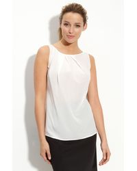 Halogen Pleat Neck Silk Top - Lyst