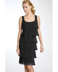 Patra Beaded Iridescent Chiffon Dress - Lyst