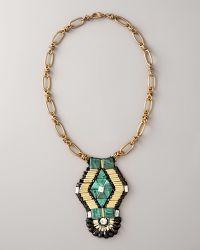 Ranjana Khan - Emerald-green Pendant Necklace - Lyst