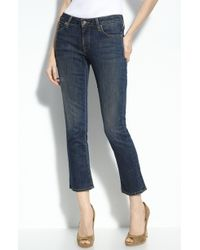 Vince Baby Bell Crop Flare Leg Stretch Jeans - Lyst