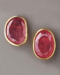 Yvel - Pink Sapphire Stud Earrings - Lyst