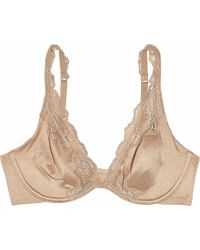 Donna Karan - Luxe Jersey and Lace Plunge Bra - Lyst