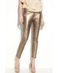 Foley + Corinna Leather Pants - Lyst