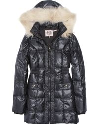 Juicy Couture - Faux Fur-trimmed Quilted Hooded Coat - Lyst