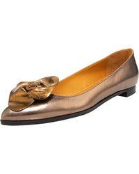 Lanvin Pointed-toe Ballerina Flat - Lyst