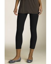 Splendid Crop Stretch Knit Leggings - Lyst