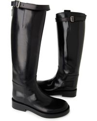 Ann Demeulemeester Poetry Riding Boots - Lyst