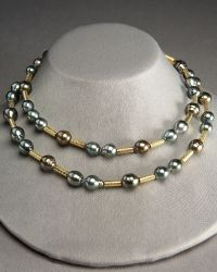 Assael - Pearl and Gold Strand Necklace - Lyst