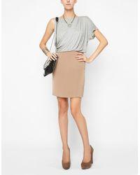 BCBGeneration Draped Combo Dress - Lyst