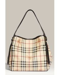 Burberry 'Haymarket Check - Small' Shoulder Tote - Lyst