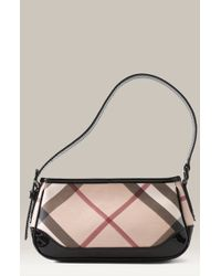 Burberry Check Print Shoulder Bag - Lyst