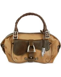 Buti - Front Pocket Camel and Brown Italian Leather Bag - Lyst