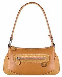 Buti - Front Zip Camel Italian Nappa Leather Baguette Bag - Lyst