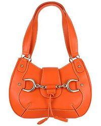 Buti - Orange Horsebit Detail Italian Calf Leather Shoulder Bag - Lyst