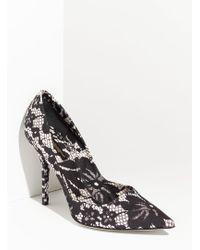 Dolce & Gabbana Lace Print Pump - Lyst